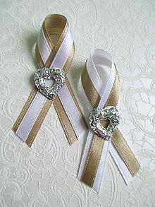 Pierka - svadobné pierka capuccino so srdiečkom - 6426812_