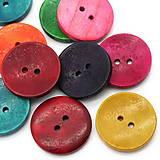 Galantéria - Drevený gombík mix farieb 3cm (balíček 5ks) - 6425821_