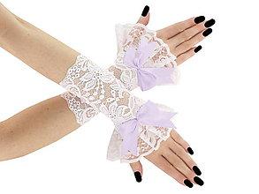 Rukavice - Svadobné bielé čipkové rukavice pre nevestu 06tP - 6428454_