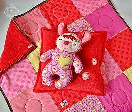Úžitkový textil - O svetluškách v lese - 6430926_