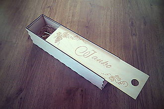 Krabičky - Krabička na víno s menom - 6431697_