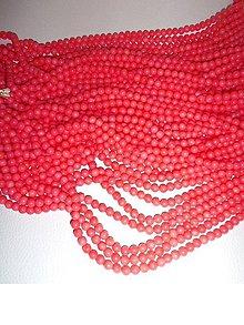 Minerály - koral marhuľový 6mm korálky - 6430584_