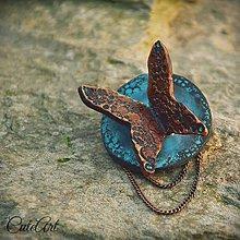Odznaky/Brošne - Motýlí šepot - brošňa - 6431249_