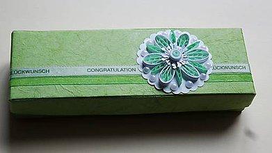 Krabičky - zelený kvet - 6430804_