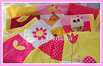 Úžitkový textil - Prehoz, letná prikrývka Múdra Sova 180/110cm - 6436089_