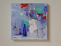 Abstrakcia v modrom