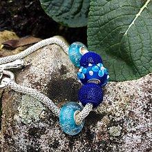 Náramky - Náramek z vinutek modré bublinky - 6435104_
