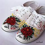 Folklórní svatební tenisky - růže I.