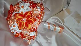 Kytice pre nevestu - Oranžová kytica - 6436026_