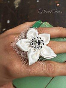 Prstene - Prstienok kvet Ivory - 6432539_