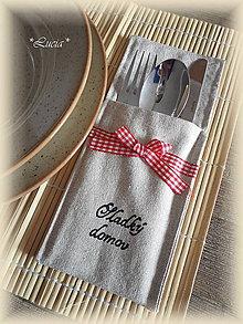 Úžitkový textil - Puzdro na príbor - 6435751_