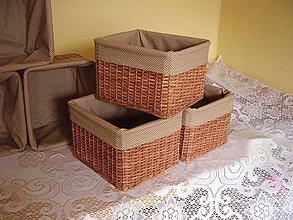 Košíky - Košík orechový - 6434015_