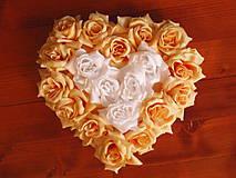 Srdce z ruží - viac farieb