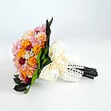 Kytice pre nevestu - Svadobná kytica zo stabilizovaných kvetov - 6435135_