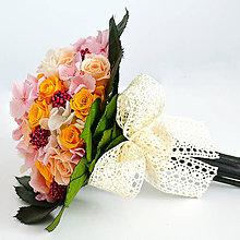 Kytice pre nevestu - Svadobná kytica zo stabilizovaných kvetov - 6435564_