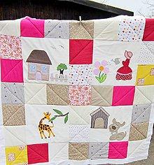 Textil - Ružová záhradka - 6434713_