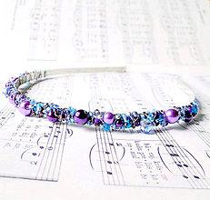 Ozdoby do vlasov - Violet & Blue - 6436592_