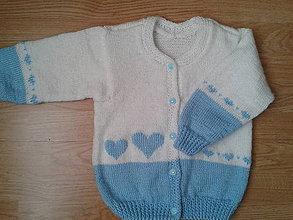 Detské oblečenie - svetrík- srdiečkový, gombík smajlíkový - 6436782_