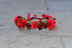Ozdoby do vlasov - Rudé růže - 6439054_