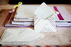 Obálky na drobnosti - text