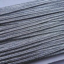 Galantéria - Šujtáš 3mm s lurexom-1m (strieborná) - 6436544_