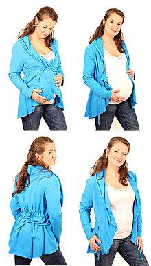 Tehotenské/Na dojčenie - Tehotenský kabátik - veľ. XS - M, rozne farby - 6440795_