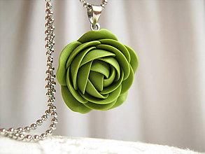 Náhrdelníky - Leaf green, náhrdelník - 6439536_