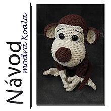 Návody a literatúra - Háčkovaný opičák Max - návod - 6440553_