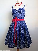 šaty - Modr(otlačov)é leto