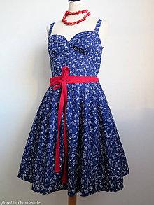 Šaty - šaty - Modr(otlačov)é leto - 6436654_