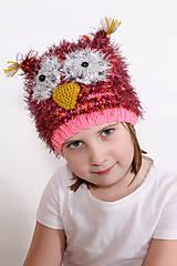 Detské čiapky - Sovička - 6440669_
