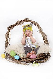 Detské čiapky - Detská čiapka Sovička-ušianka - 6440610_