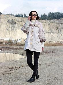 Kabáty - Light Cream - ZĽAVA! - 6436474_