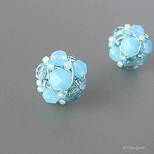 Náušnice - Napichovačky BLUE OPAL - 6436431_