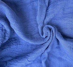 Šály - modrý bavlnený šál  SKLADOM:-) - 6436454_