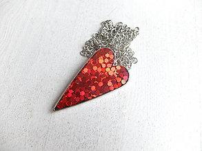 Sady šperkov - Srdiečkový set červený - 6443172_