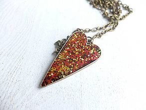 Sady šperkov - Srdiečkový set vo farbách jesene - 6443206_