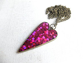 Sady šperkov - Srdiečkový set ružový - 6443220_