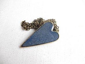 Náhrdelníky - Srdiečko modré - 6443230_