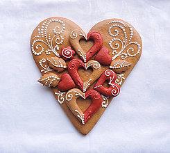 Dekorácie - Medovníkové Srdce srdečné, srdce v 002 - 6444556_