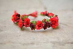 Ozdoby do vlasov - Rudé růže - 6441480_