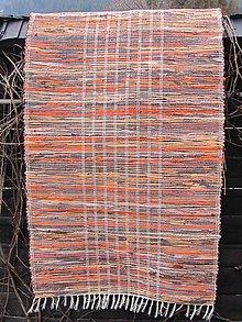 Úžitkový textil - KOBEREC tkaný 80 x 200 cm oranž-hnedý - 6443769_