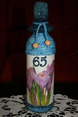 Fľaša na narodeniny - krokus