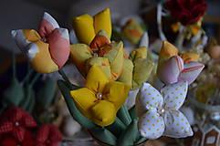 Dekorácie - Tulipán žltý mix - 6443161_