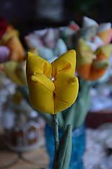 Dekorácie - Tulipán žltý mix - 6443162_