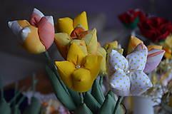 Dekorácie - Tulipán žltý mix - 6443163_