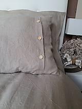 Úžitkový textil - Ľanové posteľné obliečky Fresh Nature (Set č.1: 140x200, 70x90 cm, biela) - 6441372_