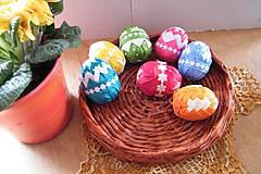 Dekorácie - Veľkonočné vajíčka zdobené patchworkom - 6443288_