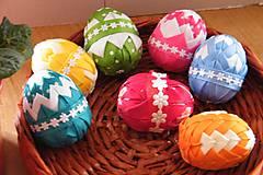 Dekorácie - Veľkonočné vajíčka zdobené patchworkom - 6443289_