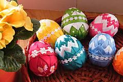 Dekorácie - Veľkonočné vajíčka zdobené patchworkom - 6443316_